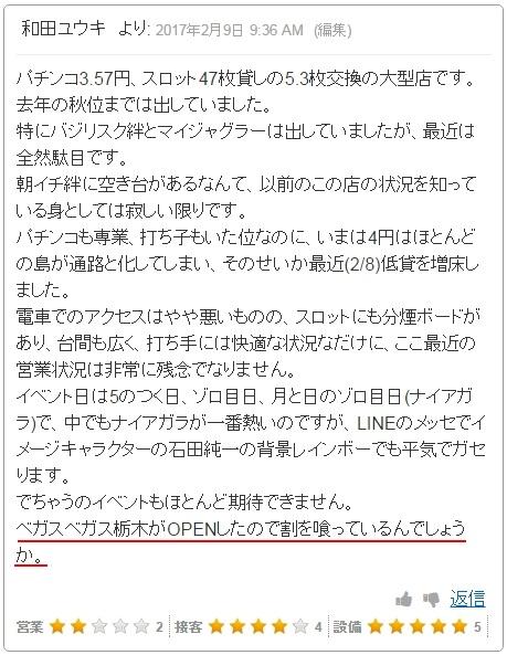 ベガスベガス国分寺恋ヶ窪店