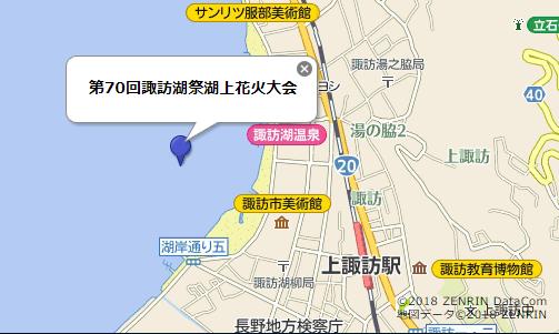 諏訪湖地図