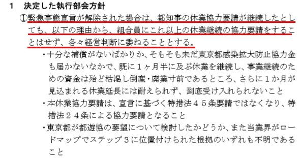 東京都遊技業協同組合  通達